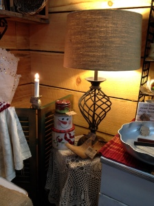 Dec - lamp and burlap shade